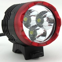 2 in1 Bike Light & Headlight 3 x CREE XML T6 LED 4000 Lumens 3 Mode Waterproof Bicycle Light + 8.4v Battery Pack + Charger