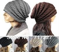 Unisex Men Women Braided Baggy BEANIE oversized slouchy Hat Cap Knitted Ski Cap