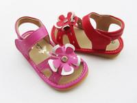 2014 female child sandals summer flower child sandals princess shoes genuine leather female child name sandals