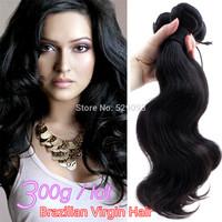 Wennie's Top Unprocessed 100% Brazilian virgin Remy Human Hair Weave Extension Body Wave Natural Black 3pcs 4pcs /lot 300g