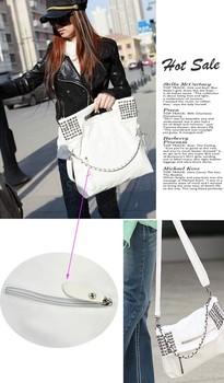 3PCS/LOT New Fashion Korean Style Women PU leather Bags Handbag designer Shoulder Bag Lady tote Bag Purse White 12