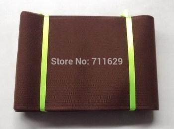 Aso-oke headtie,Plain ASO-OKE head tie fabric,Pure coffee brown headwrap with High quality,Free shipping,20yards/pc