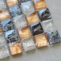 FREE SHIPPING Crackle Glass Mosaic Tiles, bathroom mosaic tiles, Kitchen Backsplash, wall tiles