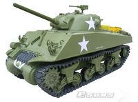 Wholesale RC Tank Model GT602R Gas Powered Tanks  1/6 M4A3 Sherman Tank - 75mm Gun GP RTR   2.4G 6 Channels Toys