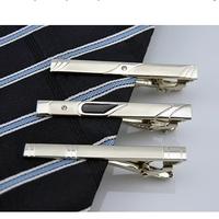 4PCS/Lot Men Metal Silver Tone Simple Necktie Tie Bar Clasp Clip