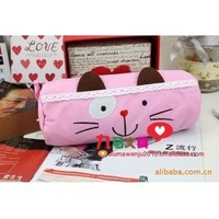 Q463Free Shipping Cute Anime Pencil Case,Canvas Pen Bag,Creative Lovely Stationery,Children Pen Pouch 4Colors