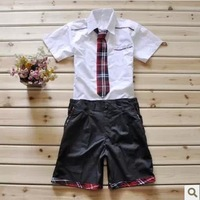 Spring short-sleeve school uniform boys school uniform sailor suit school wear fashion school uniform