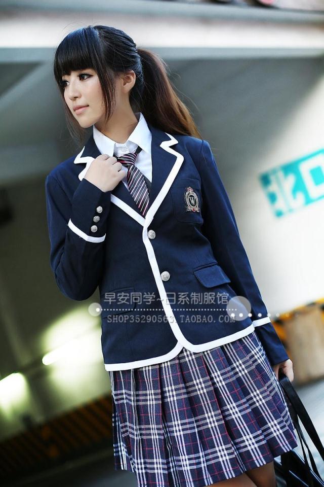... scolaire femme hiver uniforme scolaire de la mode veste manches jupe