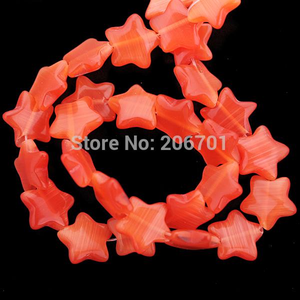 Wholesale Pretty Orange 12mm Millefiori Glass Star Loose Beads gl-12mm-133 Gift(China (Mainland))