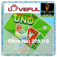New  Loveful Cartoon UNO Card Game Playing Card Family Fun --World Cup Soccer