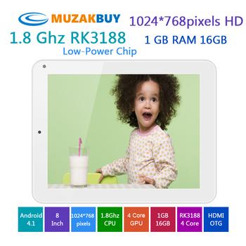 Hot Selling quad core tablet Quad Core RK3188 1.8Ghz CPU Mali-400 MP4 Quad Core GPU WIFI Webcam OTG HDMI Free Shipping