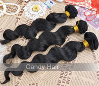 5a queens brazilian virgin hair loose wave 3pcs lot mixed 100% human virgin loose curly extensions unprocessed dhl free shipping