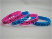 Jesus Wristband, What Will Jesus Do? WWJD? Printed Bracelet, 100pcs/Lot, Free Shipping
