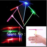 Glow Lights Toys LED Flash bamboo dragonfly flying rotor led toy gift