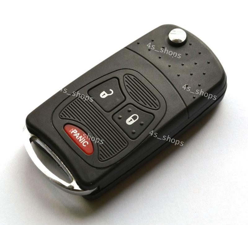 Modify Case Uncut Blade Flip Folding Key Shell For Chrysler PT Cruiser Dodge Nitro Caliber Jeep Patriot 2+1 3 Small Buttons(China (Mainland))