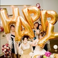 Free shipping Large 90cm staphyloccus aluminum letter balloon aluminum foil balloon letter a z wedding balloon