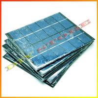 5pcs/lot 6V 330mA 2W mini solar panels small solar power 3.6v battery charge solar led light solar cell drop shipping -10000594