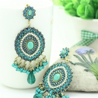 Free shipping Vintage Antique Earrings Fashion Earring Statement India Bohemia Style Jewelry 1102066