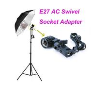 Free Shipping +Tracking Number E27 AC Swivel Socket Adapter Lamp Holder Flash Umbrella Bracket