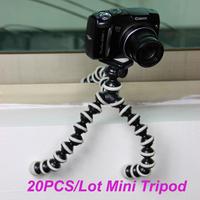 Free ship 20PCS/Lot Brand New Small Gorillapod Mini Tripod Octopus Flexible w/Rotating Ball Platform For Digital Camera