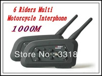 Motorbike Headset Motorcycle Helmet Bluetooth Multi Intercom headsets up to 6 Riders 2 x BT 1000M