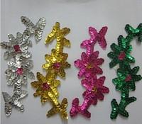 Sequin hair accessory handmade flower paillette beads cravat corsage multicolor