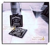 Wholesale   Jack Daniels whisky Coaster  for Bar ,home ,cafe 9.5x9.5cm 10pcs/lot