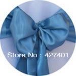 Hot Sale Tiffany Blue Satin Chair Cover Sash / Satin Sash / Chair Sash For Wedding Event & Party Decoration