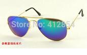 aviator RB Classic 2013 3025 multi-colored reflective lens sunglasses driving mirror large vintage sunglasses female