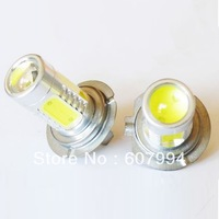 Free shipping 7.5W H7 high power  H7 LED Car Day Driving Fog Light Lamp Bulb Super Bright SMD 4460