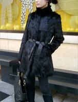 high quality Fashion Jacket Genuine Rabbit Fur Coat Wholeskin Fur Coat Retail/wholesale/OEM IN STOCK