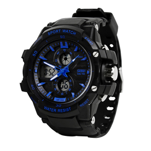 Free Shipping 2013 New Men's sports style Watches outside led watch without package waterproof electronic antishock watches(China (Mainland))