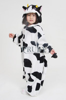 Free Shipping Hot Unisex Kigurumi Pajamas Animal Pyjamas Children Onesies Anime Cosplay Costumes Sleepwear For Kids,Cow