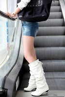 female boots spring and autumn 2013 high-leg boots white