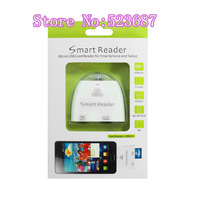 Free shipping Micro USB Card Reader Smart Card Reader SD TF MS M2 for Samsung Galaxy S4  i9100  i9300 Note 2&for xiaomi&for HTC