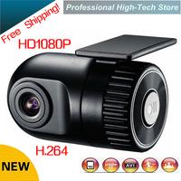 Free Shipping!2014 new Novatek chip car dvr HD 1080P H.264 120 Degree Car vehicle Camcorder Camera Recorder Cam G-sensor