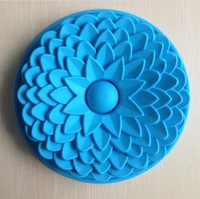 Free Shipping 1PCS sunflower shape Muffin Candy Jelly Ice Silicone Mould Mold Baking Pan Tray Bakeware