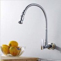 Copper single cold kitchen faucet sink faucet single cold vegetables basin faucet