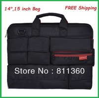 "High Quality Brand Nylon Handbag For 14"",15 inch Laptop,Message Bag For Notebook ,Computer Bag,Drop,Free shipping.1pcs/lot"