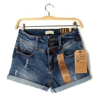 Лето ролл женщин до подол джинсы женские отверстия высокие отверстия талии джинсовые ...