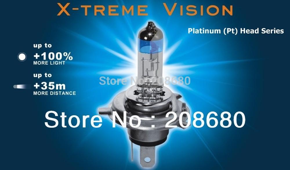 treme vision 100 brighter h1 h3 h4 h7 h11 hb3 9005. Black Bedroom Furniture Sets. Home Design Ideas