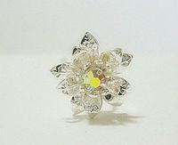Free-shipping Bridal Hair Accessory , Rhinestone Wedding Jewelry Classic Flower Shape Bridal Hair Pin, 18pcs/lot