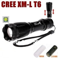 UltraFire E007 CREE XM-L T6 1800Lumens 5 Mode Zoom LED Flashlight Torch For 3 x AAA or 1 x 18650