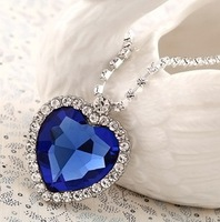 crystal heart of ocean necklace platinum plated Titanic crystal necklaces for women free shipping new year gift