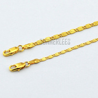 2MM 3MM Womens Girls Fashion Jewelry 18K Yellow Gold Filled Necklace Link Chain Free Shipping Gift GF Jewellery 2 Options GFNG02