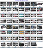 10 set Real 2X Black TRD STI M Carbon fiber Sline Seat Belt  Pads Sholder pads C008