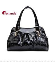 2014 Women Bags Genuine Leather Handbags Fashion Crocodile Shoulder Bag Purse Totes BH7003+Free Shipping wholesale