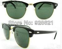 Free Shipping 3016 sunglasses  men sunglasses , women's sunglasses  CLUBMASTER sunglasses With Tags, Cleaning , box Case , 48mm