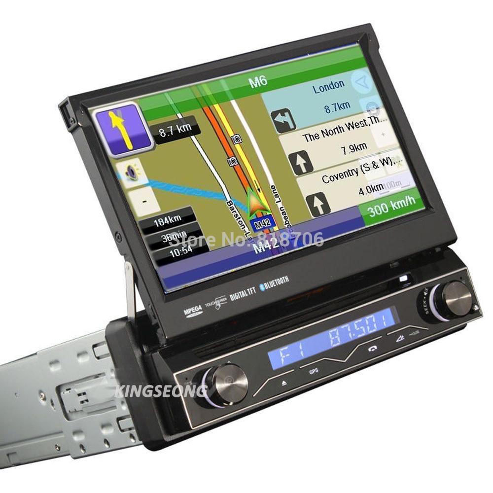 "HD 1 DIN 7"" Autoradio car dvd gps navigator 3G Radio DVB-T MPEG4 USB SD IPOD Bluetooth KS7898(China (Mainland))"
