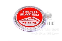 TRAIL RATED 4x4 the best  zinc alloy  3d car self-adhesive red emblem sticker  logo badge   high quality